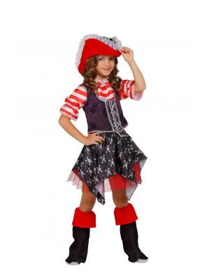 Костюм отважной пиратки для девочки