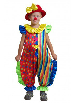 Костюм пестрого клоуна для мальчика
