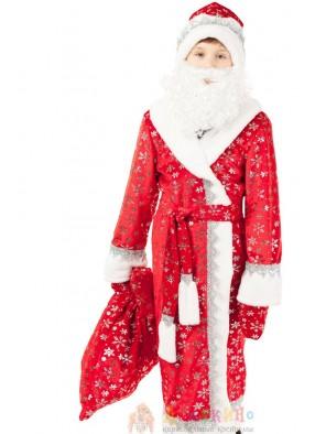 Костюм плющевого Деда Мороза