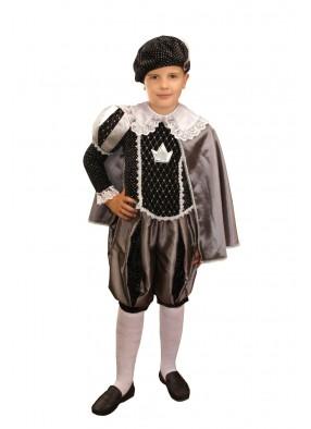 Костюм принца в черном для девочки