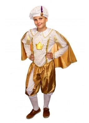 Костюм принца в золотом для мальчика