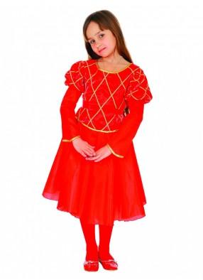 Костюм принцессы в красном для девочки
