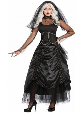 Костюм Призрак невесты в черном взрослый