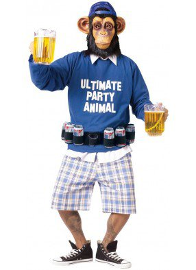 Костюм пьющего шимпанзе