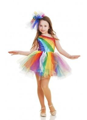 Костюм радуги в юбке-пачке-5 фото