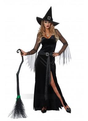 Костюм роскошной черной ведьмы