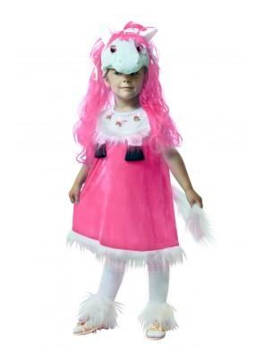 Костюм розовой лошади для девочки