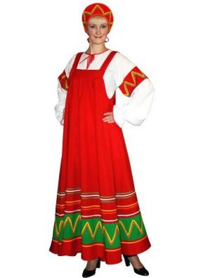 Костюм Русский национальный костюм Ульяна красный