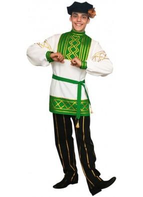 Костюм Русский народный Олег зеленый
