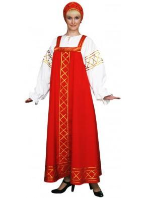 Костюм Русский народный Ольга красный