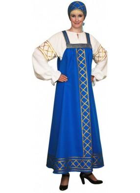 Костюм Русский народный Ольга синий
