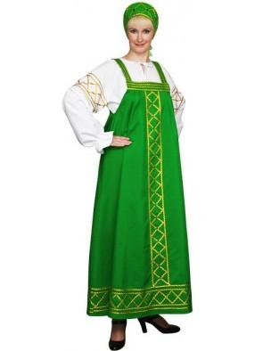Костюм Русский народный Ольга зеленый