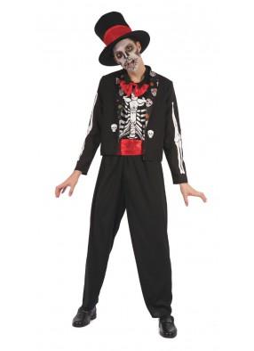 Костюм с костями День мертвецов