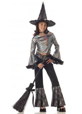 Костюм серебряной ведьмочки для девочки