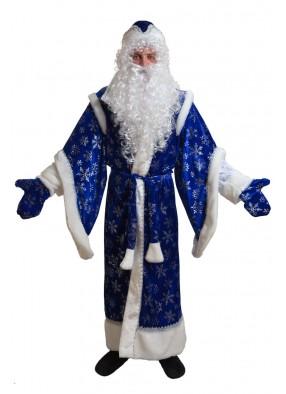 Костюм синего боярского деда мороза