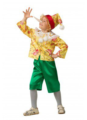 Костюм сказочного Буратино для мальчика фото