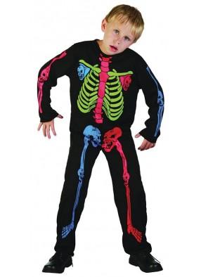 Костюм скелета детский мультицвет