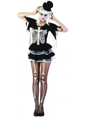 Костюм скелетной девушки
