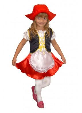 Костюм смелой красной шапочки для девочки