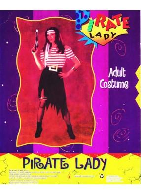 Костюм смелой пиратки взрослый