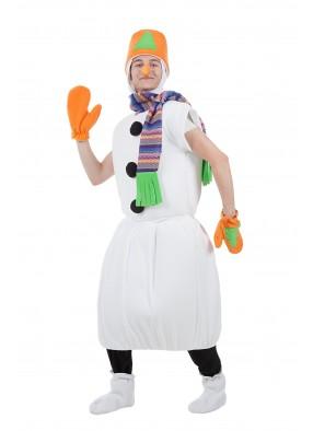 Костюм снеговик в оранжевом ведре фото