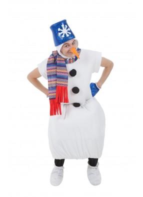 Костюм снеговик в синем ведре фото