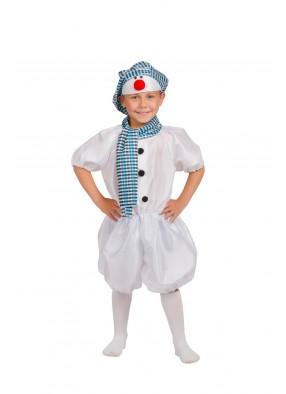 Костюм снеговика в голубом для мальчика