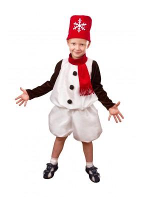 Костюм снеговика в красном для мальчика