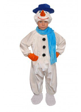 Костюм снеговика в синем для мальчика