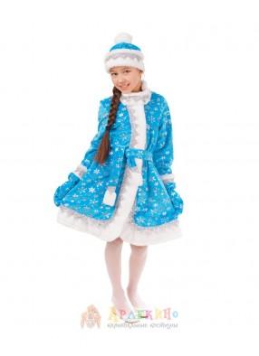Костюм Снегурочки с шапкой
