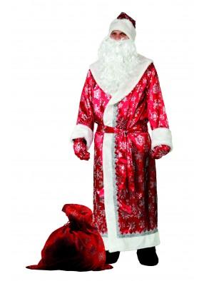Костюм снежного Деда Мороза красный