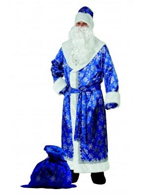 Костюм снежного Деда Мороза синий фото