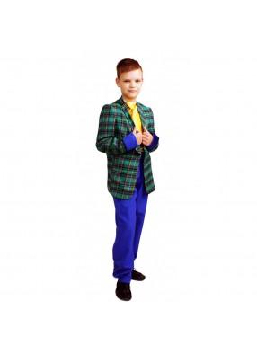 Костюм стиляги с синими штанами фото