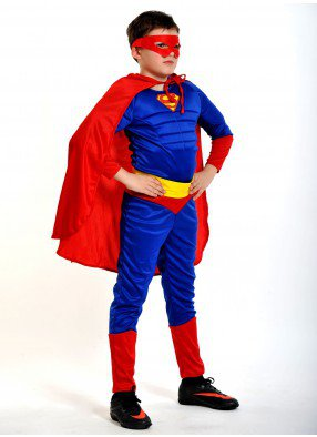 Костюм супер-человека с мускулами