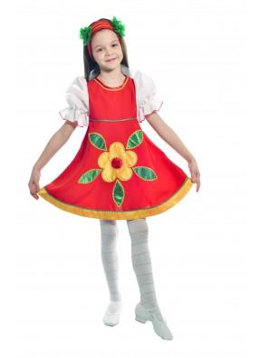 Костюм танцевальный в народном стиле для девочки фото