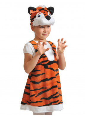 Костюм тигрицы плюшевый