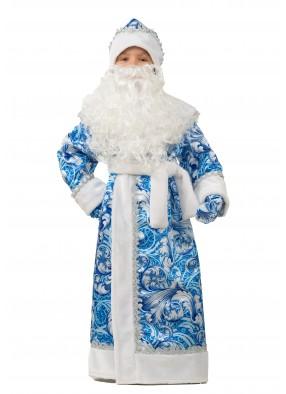 Костюм узорного Деда Мороза для мальчика фото
