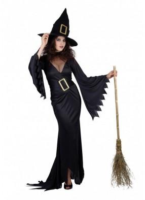 Костюм Ведьмы черный с пряжкой