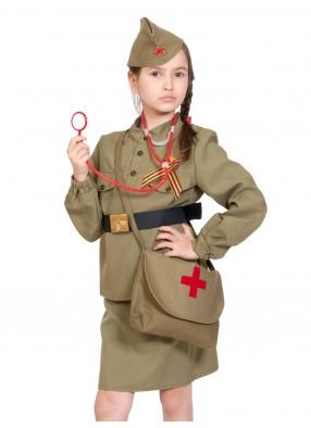 Костюм военной медсестры детский