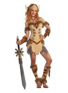 Костюм воинственной принцессы викингов