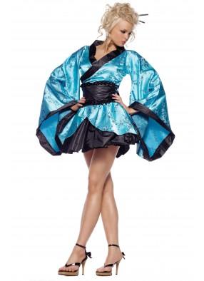 Костюм Загадочной Гейши в голубом кимоно 1 фото