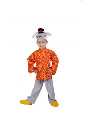 Костюм зайца в оранжевом для мальчика