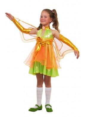 Костюм зеленой феи стрекозы для девочки