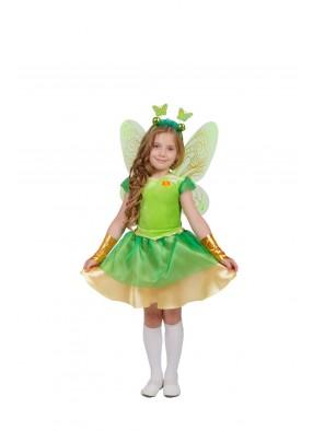 Костюм зеленой стрекозы для девочки