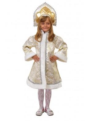 Костюм золотой снегурочки для девочки