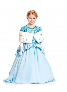 Костюм Золушка в голубом платье детский фото