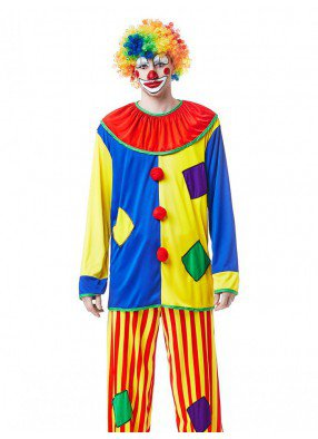 Косюм клоуна в полоску
