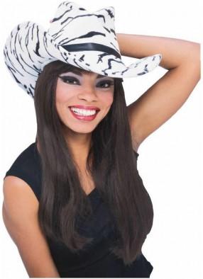 Ковбойская шляпа с рисунком зебры