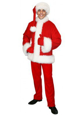 Красивый костюм Санты красный