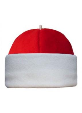 Красная флисовая шапка Деда Мороза